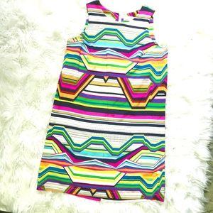 AMANDA UPRICHARD Multicolor Lines Sheath Dress S